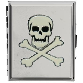 Skull and Crossbones Cigarette Case