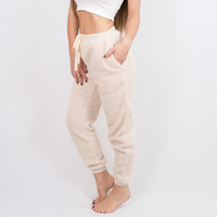 Ball of Fuzz Joggers Cream | Disruptive Youth