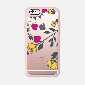 Pink and Yellow Roses iPhone 6s case by Famenxt | Casetify