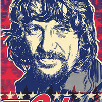 Waylon Jennings Pop Art Print 13x19