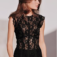 Seamed Lace Top