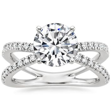 18K White Gold Bisou Diamond Engagement Ring