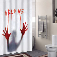 Best coral bathroom products on wanelo for Psycho shower curtain and bath mat