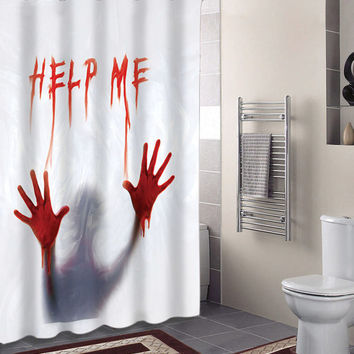 Dexter Psycho BLOODY HELP ME Specials Custom Shower Curtains That Will Make Your Bathroom Adorable