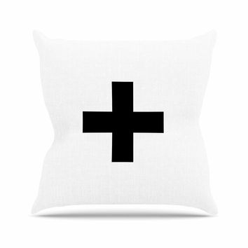 "Trebam ""Plus V.2"" White Black Throw Pillow"