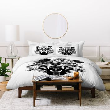 Three Of The Possessed Tiger 4040 Duvet Cover
