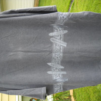 "Made by Anvil ""Ditch Plains Montauk N Y  Surfers delight Gray 2XX Mens Tee Shirt. Design goes all the way around tee...."