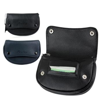 FIREDOG Genuine Leather Pipe Cigarette Tobacco Pouch Case Hand Rolling Wallet Holder With Rubber Lining to Preserve Freshness