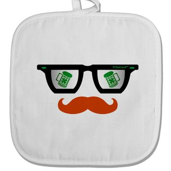 St. Patrick's Day Beer Glasses Design White Fabric Pot Holder Hot Pad by TooLoud