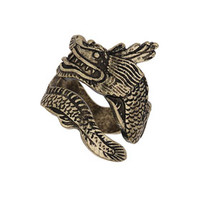 Freedom Found Collection Dragon Wrap Ring - Gold