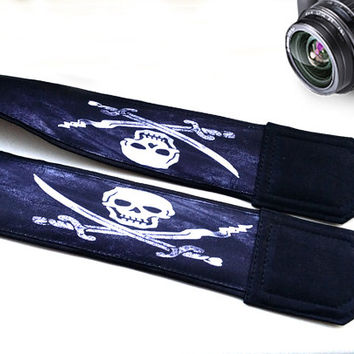 Skull Camera Strap. Halloween Camera Strap. Cute Camera Strap. Camera Accessories