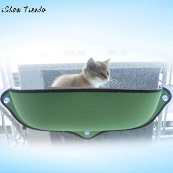 Cat Window Bed Seat Perch Kitty Mounted Pet Hanging Shelf Seat Lounger Hammock Sofa Mat Perch Cushion with Suction Cup 68.6x38cm