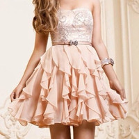 A-line Chiffon Ruffles Sweetheart Short Prom Dress, Homecoming Dress, Bridesmaid Dress