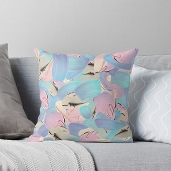 'Pastels in oil palette ' Throw Pillow by Sarah Davies