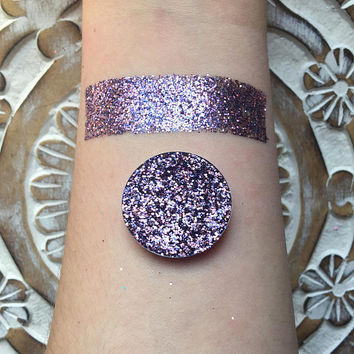 Holographic sunset pressed glitter eyeshadow, 26mm magnetic pan or jar