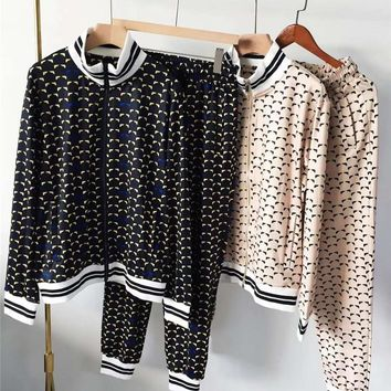 FENDI Winter fashion hooded jacket trousers casual suit