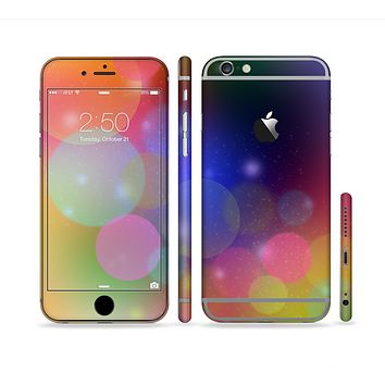 The Unfocused Color Rainbow Bubbles Sectioned Skin Series for the Apple iPhone 6s