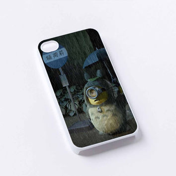 minion totoro iPhone 4/4S, 5/5S, 5C,6,6plus,and Samsung s3,s4,s5,s6