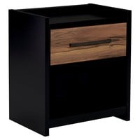 B457-91 Stavani One Drawer Night Stand - Black/Brown - Free Shipping!