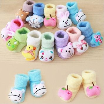 DCCKIX3 Newborn Baby Boy Girl Anti Slip Shoes Animal Cartoon Slippers Boots Socks = 1946649476