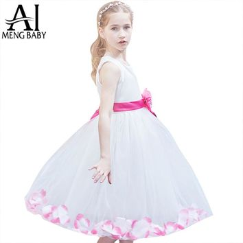 Flower Girl Dress For Wedding Party Fairy Petals Children's Costumes For Girl Clothes Teenage Girl Dress