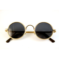 vintage round gold metal John Lennon sunglasses high quality lens