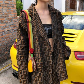 FENDI Women Fashion Cardigan Jacket Coat