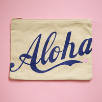 Aloha Large Clutch - Blueberry