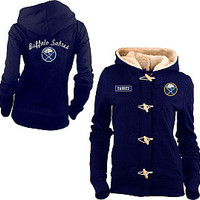 Old Time Hockey Buffalo Sabres Women's Inna Toggle Hoodie