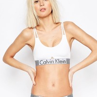 Calvin Klein Iron Strength Bralette at asos.com