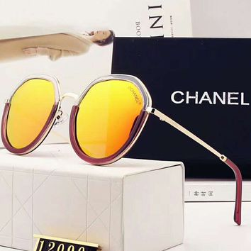 Chanel true color coated double color stitching designer polarized sunglasses F-A-SDYJ 5
