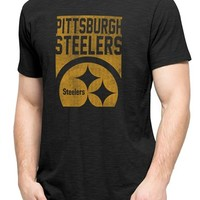 Men's 47 Brand 'Pittsbrugh Steelers - Scrum' Graphic T-Shirt,