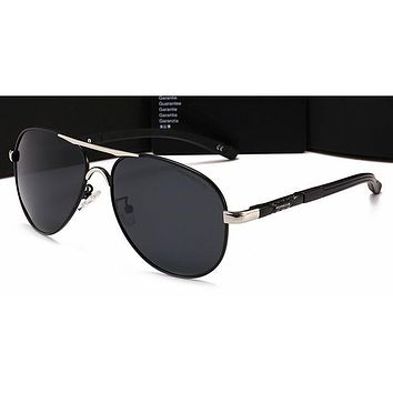 Gucci Personality Women Casual Sun Shades Eyeglasses Glasses Sunglasses Sliver Frame+Black G