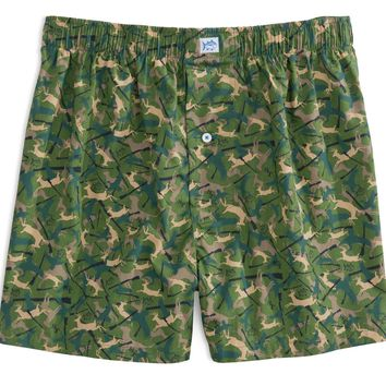 Camo Boxers in Evergreen by Southern Tide