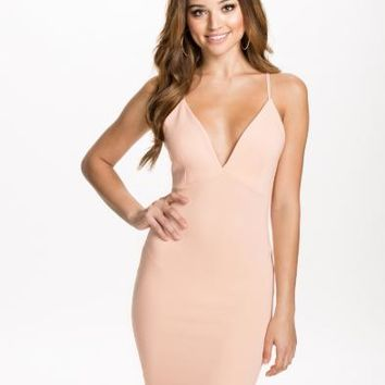 Plunge Cross Over Dress, NLY One