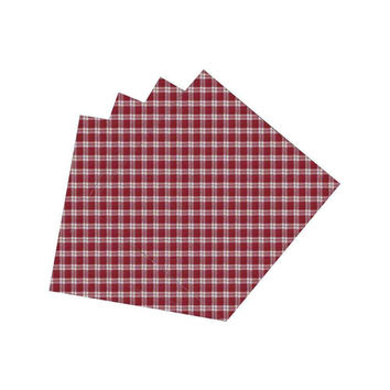 Red Checks With White Napkin Set of 4