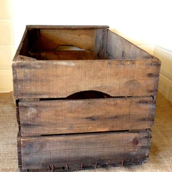 Genuine Vintage French Wooden Crate