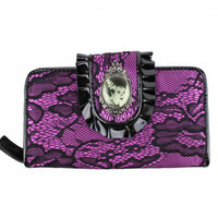 Bride of Frankenstein Purple & Black Lace Wallet