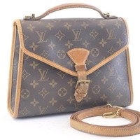 Authentic Louis Vuitton Monogram Bel Air Hand Bag M51122 #2539