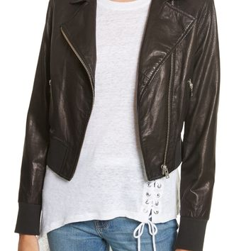 IRO Kalore Leather Moto Jacket | Nordstrom