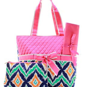 Ikat Diaper Bag - 2 Color Choices