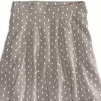AEO Women's Textured Circle Skirt (Black)