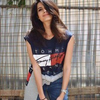 """Tommy Hilfiger""Ladies short sleeved T-shirt printing"