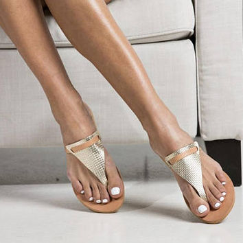 """Gold Greek sandals """"Millaray"""",  Let the summer breeze caress your feet with these beautiful and lightweight designed shoes!"""