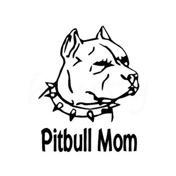 Pitbull Mom Car Decal