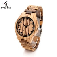 Top Quality Wood Watch for Men Wristwatches Wooden Fashion Designer Full Watches Carton Gift Box