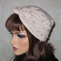 Handmade Twist Turban -Khaki on Luulla