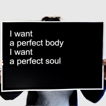Poster Typography Print Perfect Body Perfect by SacredandProfane