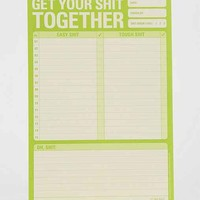 Get It Together Notepad- Green One