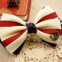 anchor bowtie for hair